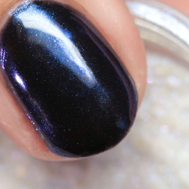 Girly Bits SFX Duo-Chrome Powder Lust over black gel