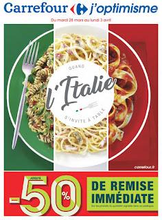 Offre des catalogues promotionnels Carrefour 28 Mars au 03 Avril 2017