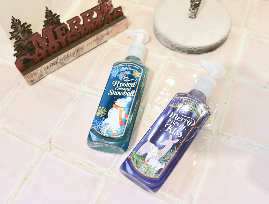 Huge Bath & Body Works Christmas Haul Deep Cleansing Hand Soaps Frosted Coconut Snowball & Merry Berry Kiss