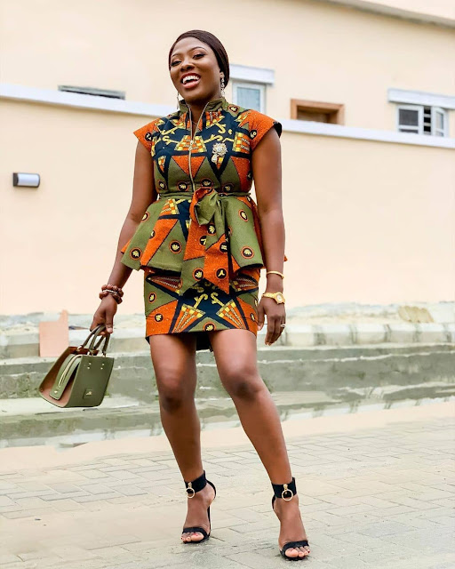 2019 Lovely and Trendy Ankara Skirt and Blouse Styles