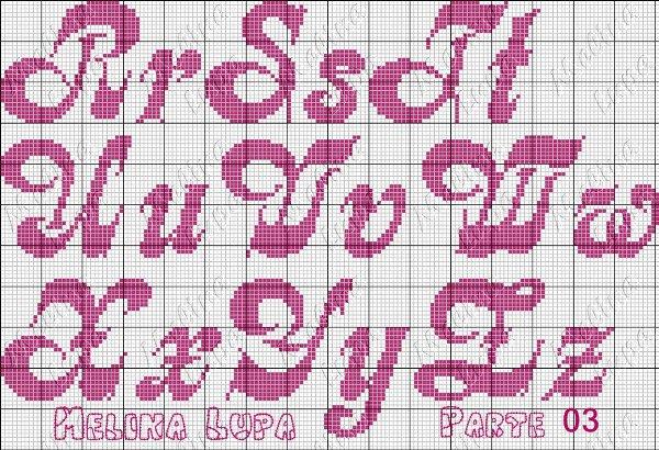Monograma Alfabeto Ponto Cruz Como Fazer