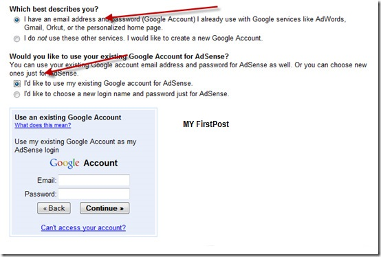 Email-account-details