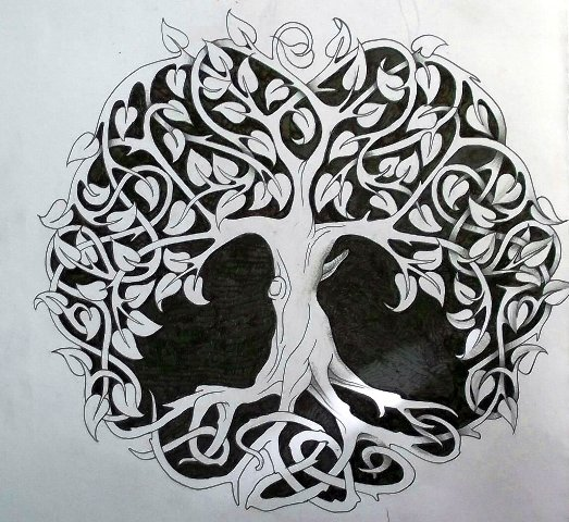 dara knot oak tree tattoo tattos for men. Black Bedroom Furniture Sets. Home Design Ideas
