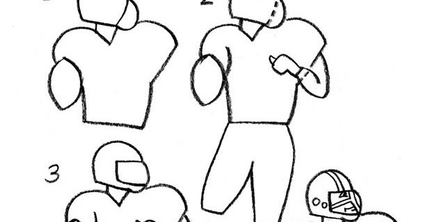 Coloring Activity Pages How To Draw A Football Player