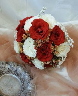 buket bunga mawar cantik