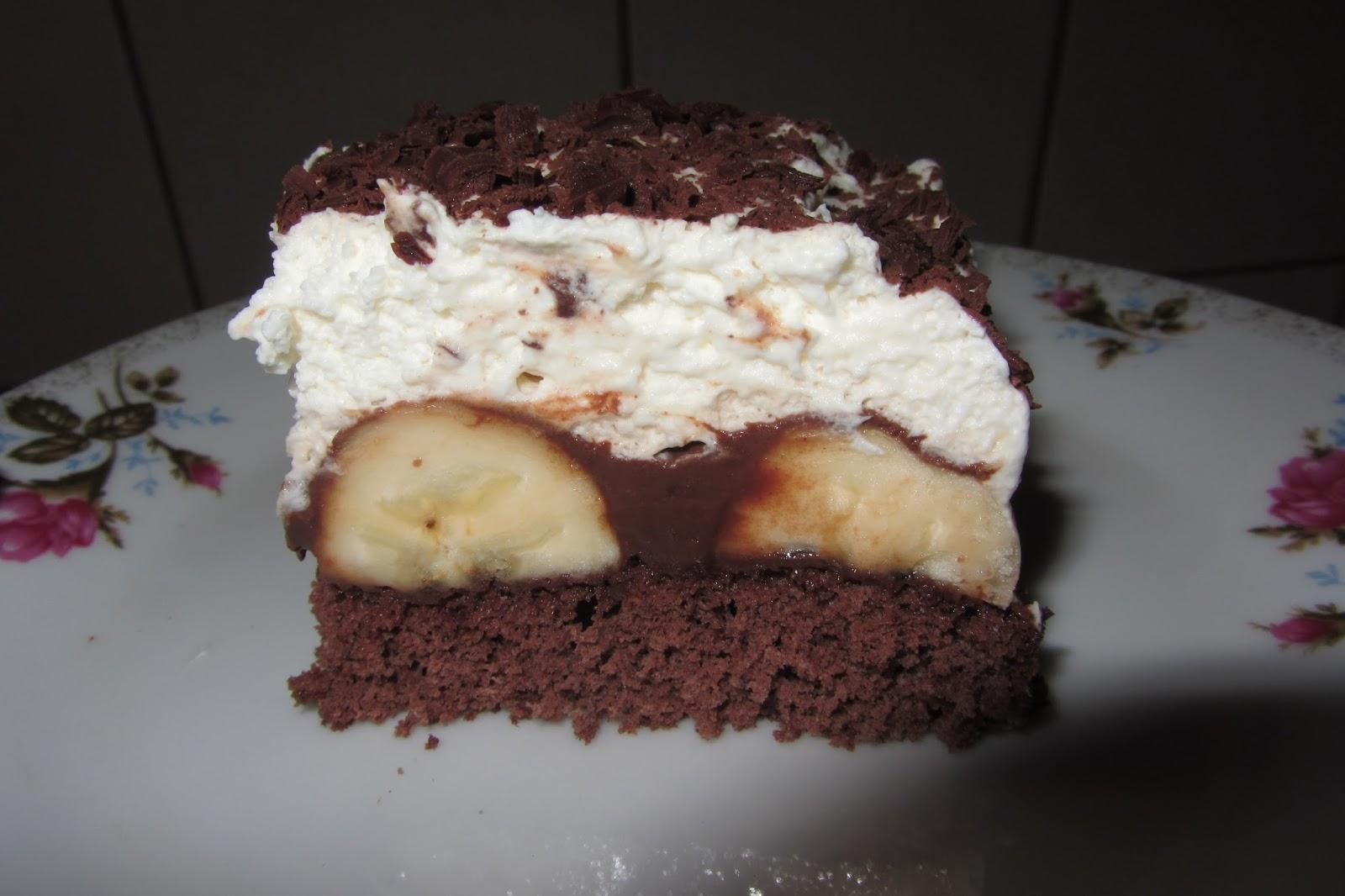 Moje Gotowanie I Pieczenie Ciasto Z Bananami Czekolada I Bita