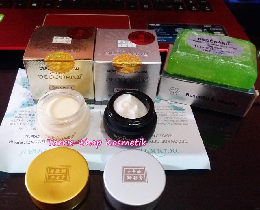 Paket Cream Deoonard Gold Silver Sabun Jerawat