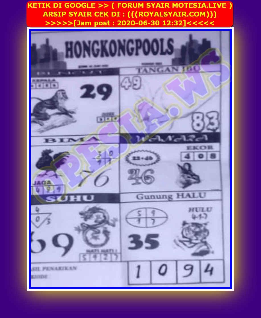 Kode syair Hongkong Selasa 30 Juni 2020 67