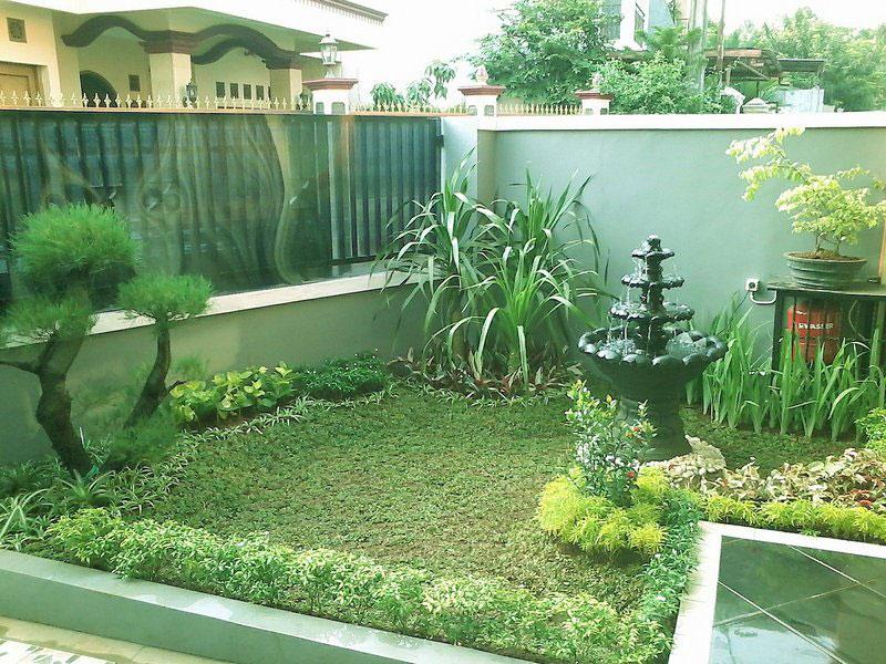 taman minimalis depan rumah type 36 modern