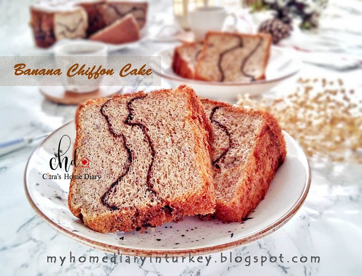 Banana Chiffon Cake Recipe with video