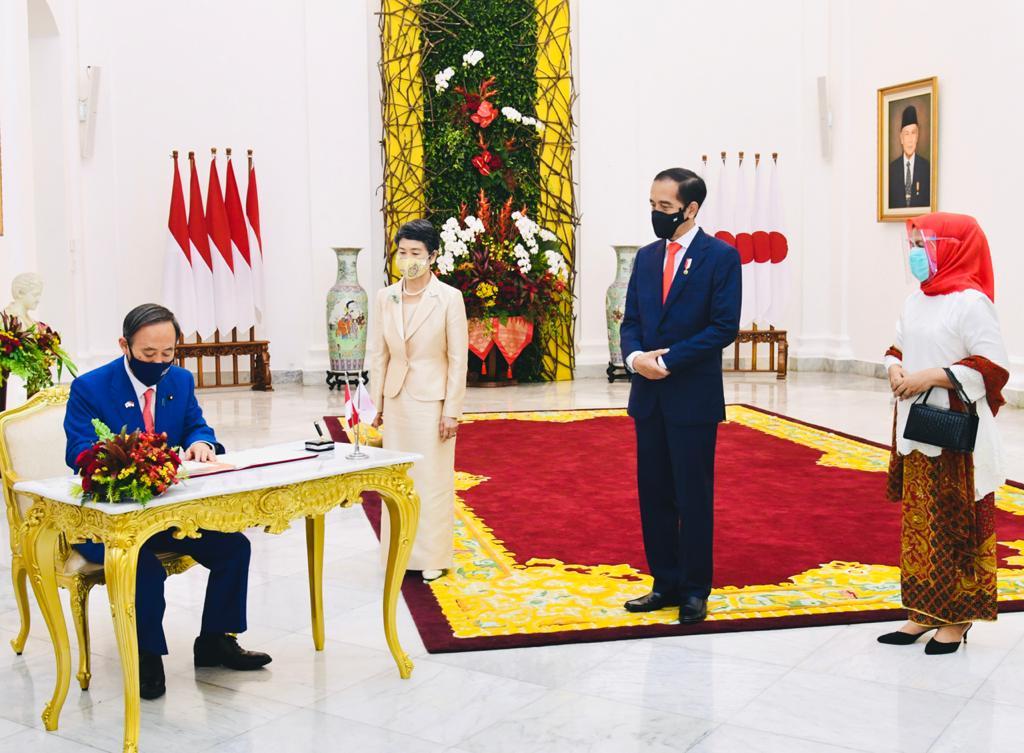 Presiden Jokowi Sambut Kunjungan Resmi Pm Jepang Yoshihide Suga Di Istana Bogor Laras Post