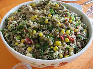 Lentil-Rice Salad (Pirincli Yesil Mercimek Salatasi)