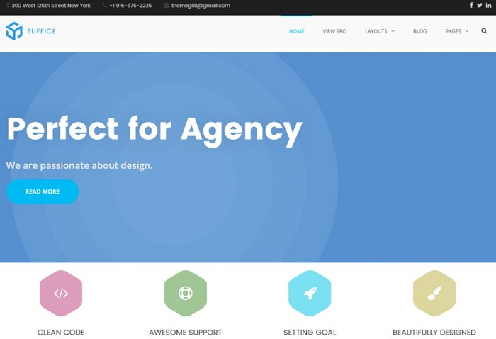Suffice Creative Agency WordPress Theme