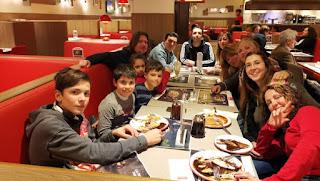 En Madrid con amigos.