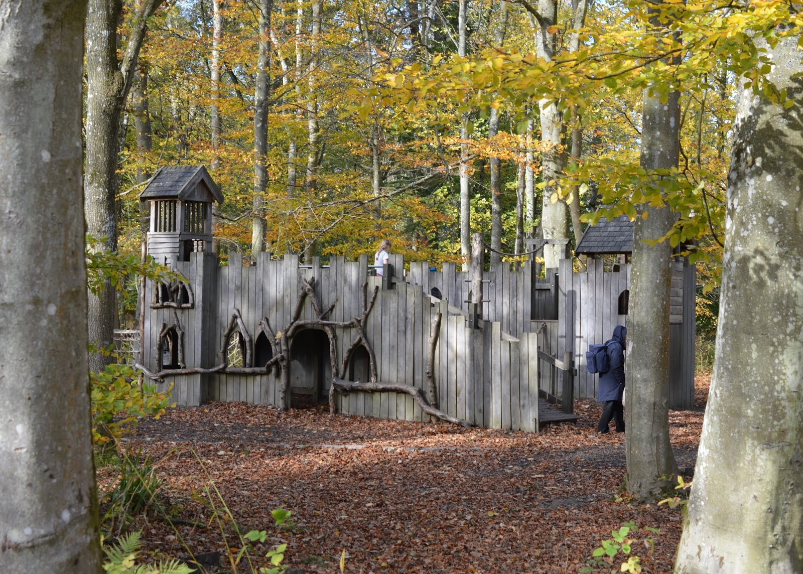Visiting the Adventure Playground & Outdoor Play Areas at Wallington Hall  - castle fort play area