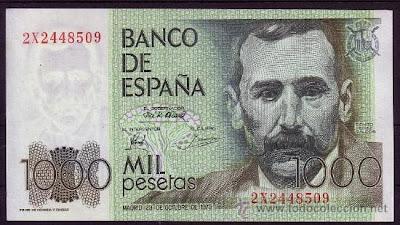 Benito Pérez Galdós en billete de 1000pts