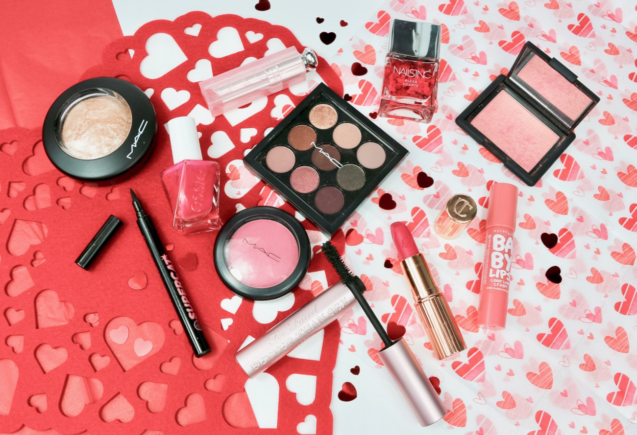 Valentine's Day Makeup Picks NARS, MAC, Soap & Glory, Charlotte Tilbury, Too Faced, Dior, Maybelline, Essie, Nails Inc
