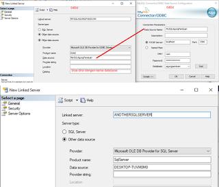 Membuat Linked Server Di SQL Server Untuk Kebutuhan Openquery (MYSQL, SQLSERVER, ORACLE)