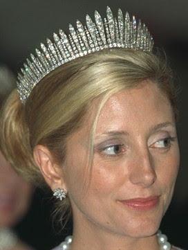 diamond fringe tiara marie chantal miller crown princess pavlos greece