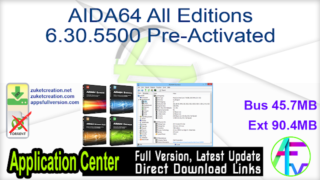 AIDA64 All Editions 6.30.5500 Pre-Activated