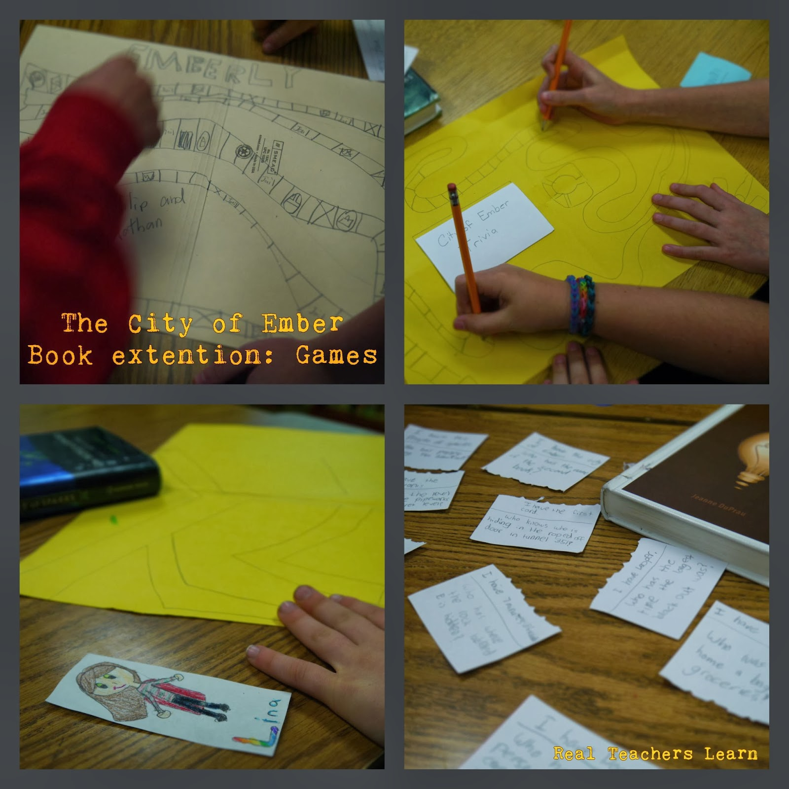Real Teachers Learn Book Project Menus And The City Of Ember