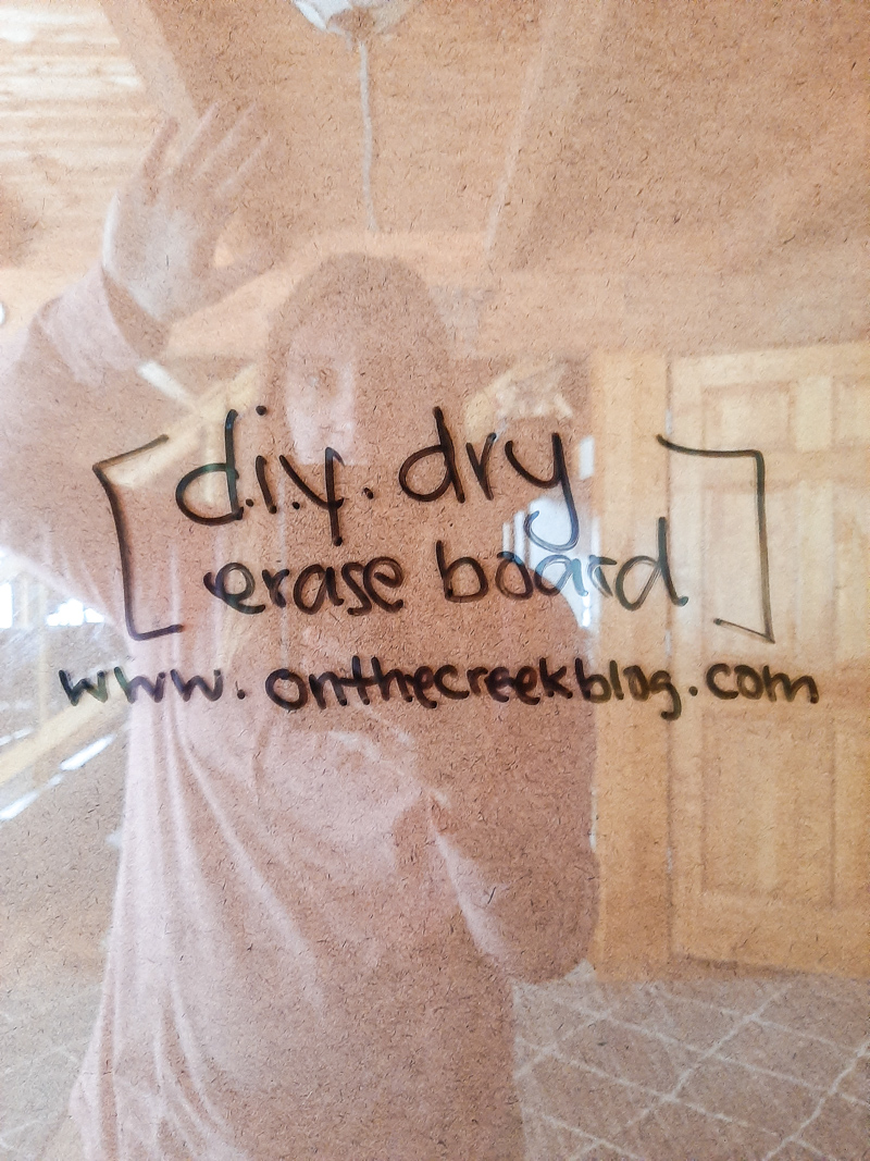 easy DIY dry erase board from a picture frame | www.onthecreekblog.com