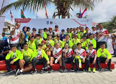 Prajurit Korem 043/Gatam Ukir Prestasi Lomba Lari TNI International Marathon di Mandalika Lombok