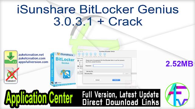 iSunshare BitLocker Genius 3.0.3.1 + Crack
