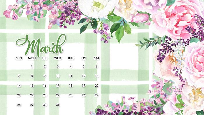 Spring Desktop Calendars