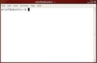 Tampilan Terminal Ubuntu