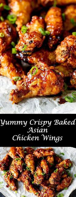 Yummy Crispy Baked Asian Chicken Wings