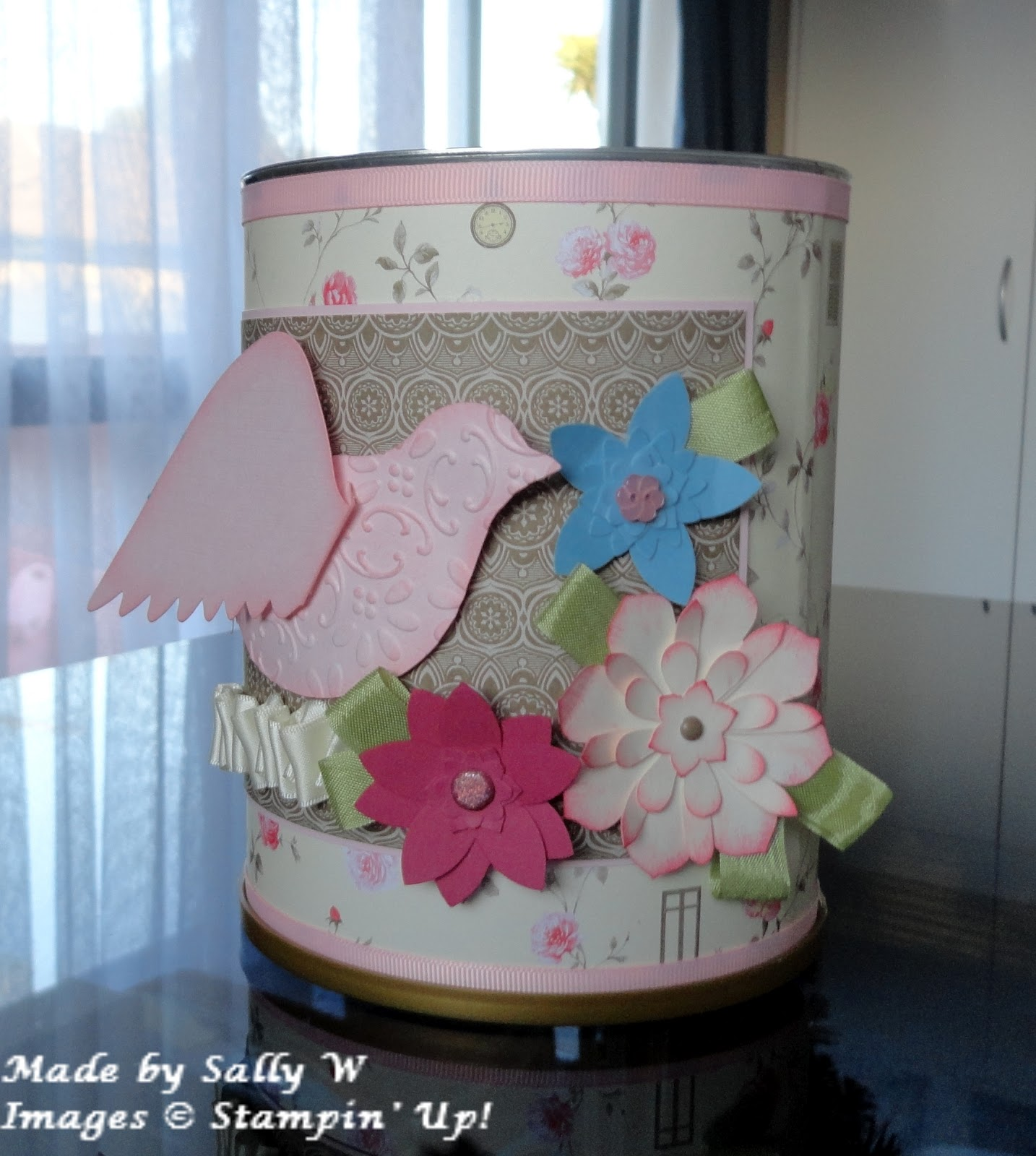 Big W Rubbish Bin Sally 39s Stamping Delights Birds And Flowers On My Rubbish Bin