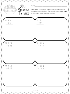Practice addition and subtraction with the split strategy!  Grab these free worksheets to get started.