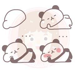 Cara menggambar panda untuk anak-anak