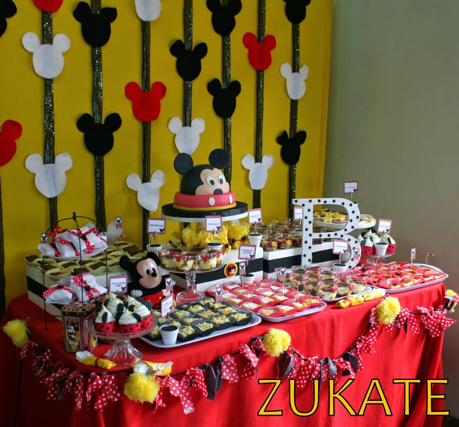 Fiesta De Mickey Mouse Para Benjamin Zukate