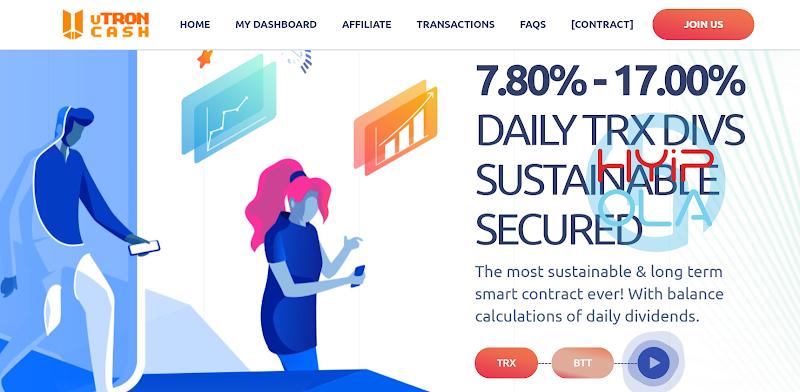 [SCAM] Review Utroncash - Gia tăng TRX, BTT nhanh nhất thông qua đầu tư lãi up 17% hằng ngày