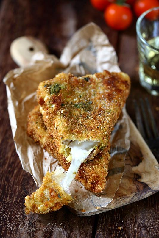 Mozzarella in carrozza (sandwich frit de mozzarella)