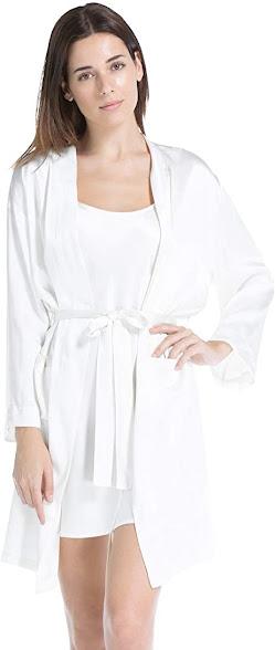 Best Women's White Silk Robes