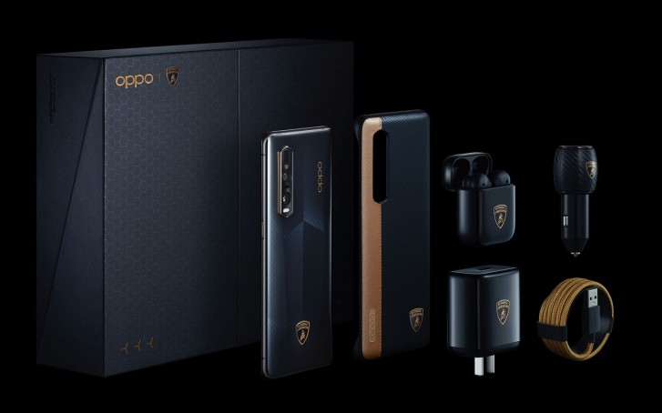 Four months after its official debut, the Lamborghini Edition of the Oppo Find X2 Pro has arrived in India. The phone features identical specs to the X2 Pro but comes with an exclusive design inspired by the Aventador SVJ Roadster and a limited edition box filled with extra goodies. These include a car charger, TWS earbuds, case, a regular charger and cable all branded with the signature yellow bull logo.