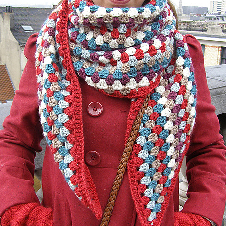 Granny scarf by Charlene Van den Brande
