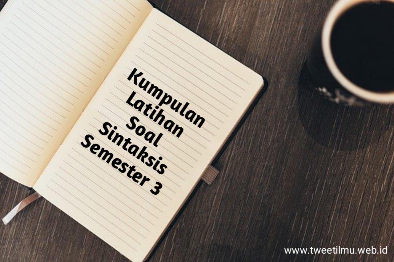 Latihan Soal Sintaksis + Pembahasan Jurnal