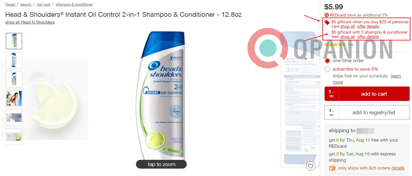 Target Double Dip Buy 3 Head Shoulders And Or Herbal Essences N Shampoo There Is A Gift Card Happening On These As Well Hair Care Select