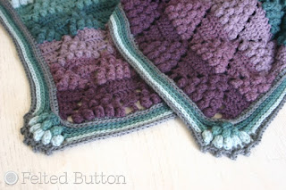 Vintage Vineyard Throw crochet pattern by Susan Carlson of Felted Button