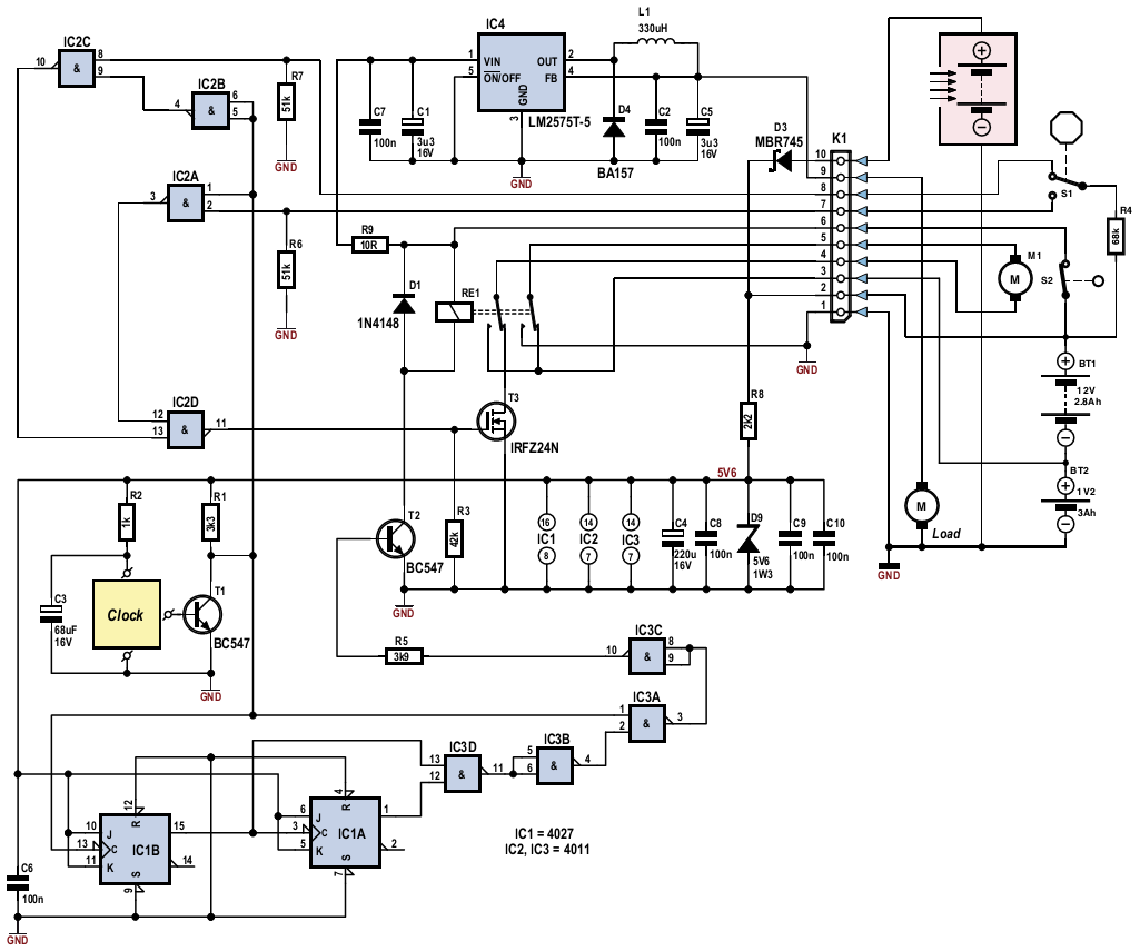 tracking solar panel circuit diagram