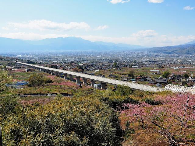 花鳥山展望台 リニア