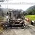 Bus de servicio público fue quemado en la vía Medellín-Quibdó