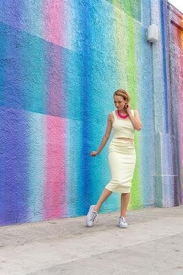 Best walls in LA Pink Blue Purple wall