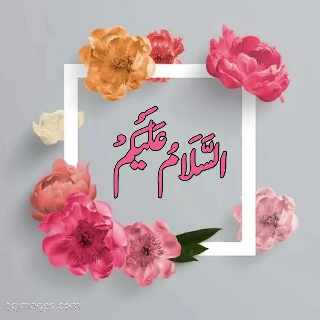 assalamualaikum images with flowers