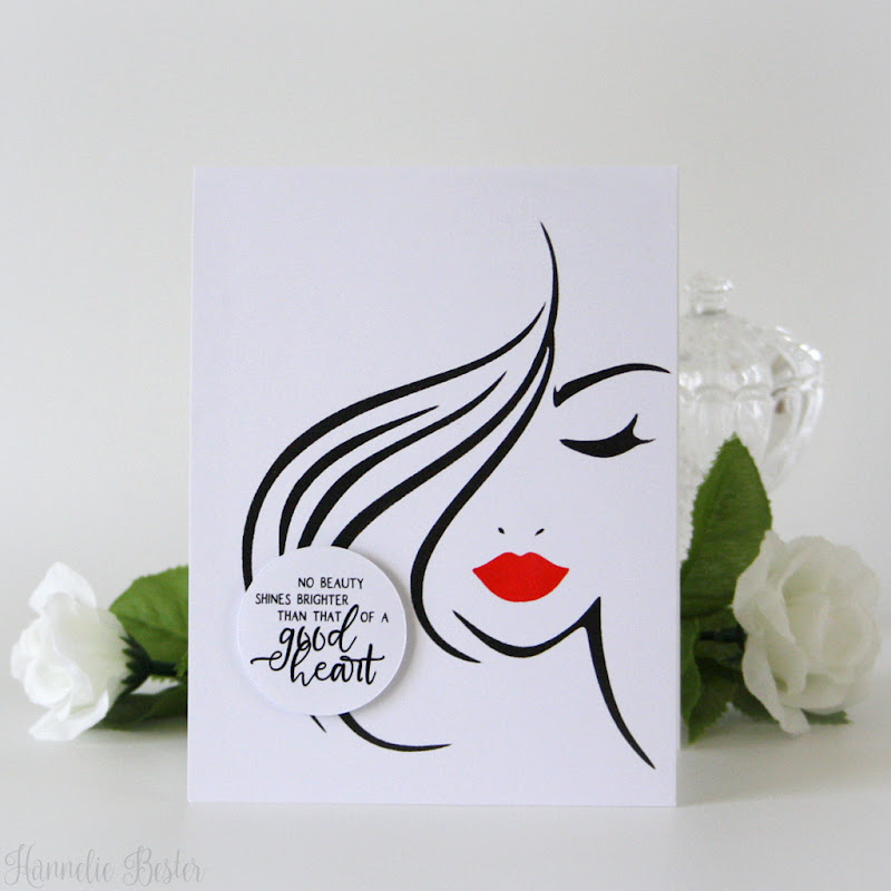 Stencil art - Clean and simple handmade card
