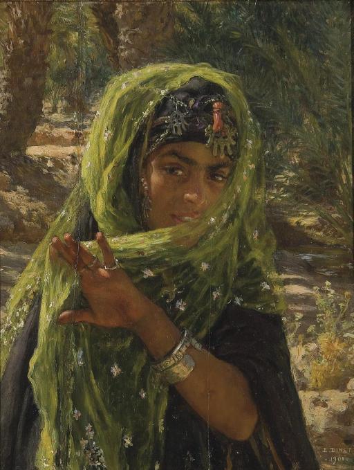"French Orientalist Painter- ""Nasreddine Dinet"" (1861-1929)"